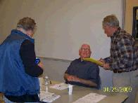 Bruce, Bernie and Bill at the sign-up table (click to enlarge)