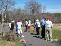 Volunteers at City Park (click to enlarge)