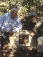 Bernie and Pat at KP memorial rock (click to enlarge)