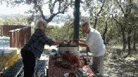 Carlisle and Judy serving sloppy joes for lunch. (click to enlarge)