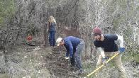 Volunteers building a trail (click to enlarge)