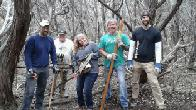 Primitive trail workers Tony, Elmer, Lorraine, Trey and Dan (click to enlarge)