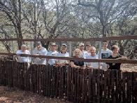 Bird blind fencing team (click to enlarge)