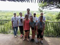 FOP volunteers pause at the Overlook in Hamilton Greenbelt (click to enlarge)