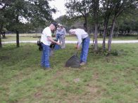Ron and John seeding bluebonnets at City Park (click to enlarge)