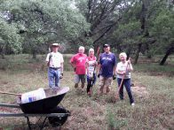 Mike, Mick, Linda, Bob, Mary Ann are wildflower seed planters (click to enlarge)
