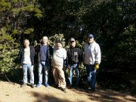 Mike, Mike, Elmer, Dave and Pat removed ligustrum (click to enlarge)