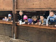 Kids enjoying bird blind (click to enlarge)