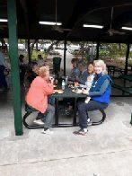FOP volunteers enjoying lunch (click to enlarge)