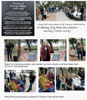 George Blume plaque ceremony page 1 (click to enlarge)