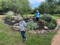 FOP volunteers working the HGB I entrance garden. (click to enlarge)